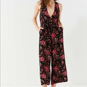 Urban Outfitters Black and Red Romper